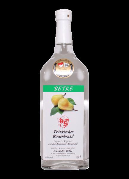 Fränkischer Birnenbrand 40% - 0,7l