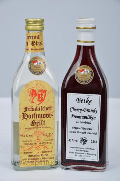 Spezial Paket Hochmoor-Geist + Cherry Brandy - 2x 0,35l